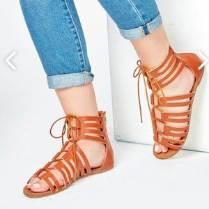 Jacquie Strappy Gladiator Sandals Ankle Height